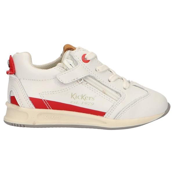 Sneaker piel junior - blanco