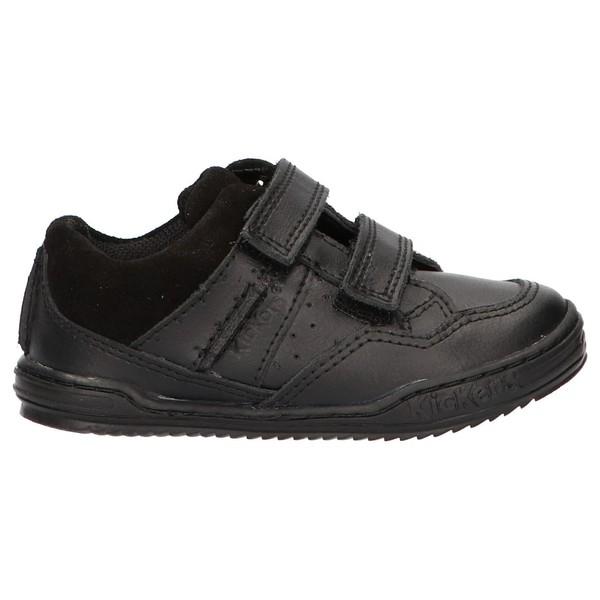 Sneaker piel infantil/junior - negro