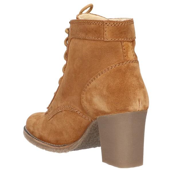 6cm Bota tacón piel mujer - marrón