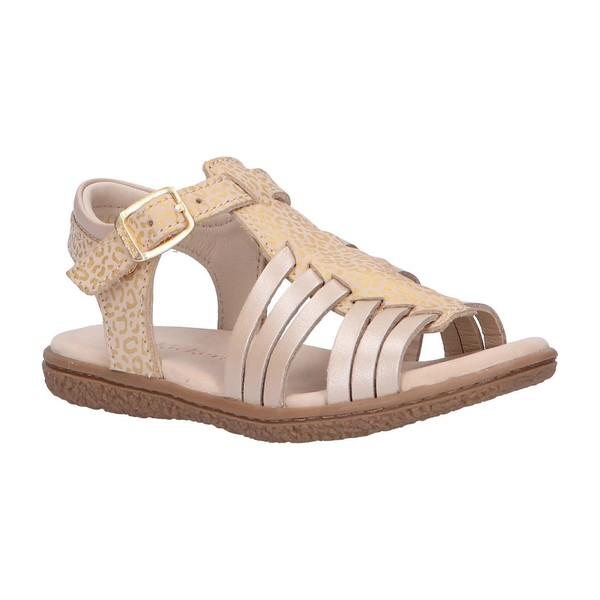 Sandalia piel mujer/niña - beige