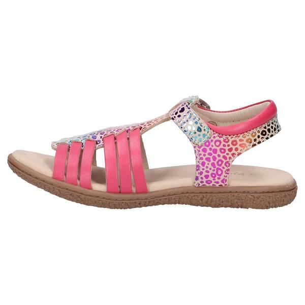 Sandalia piel mujer/niña - rosa