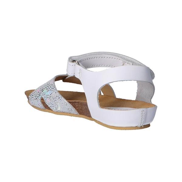 Sandalia piel mujer/niña - blanco