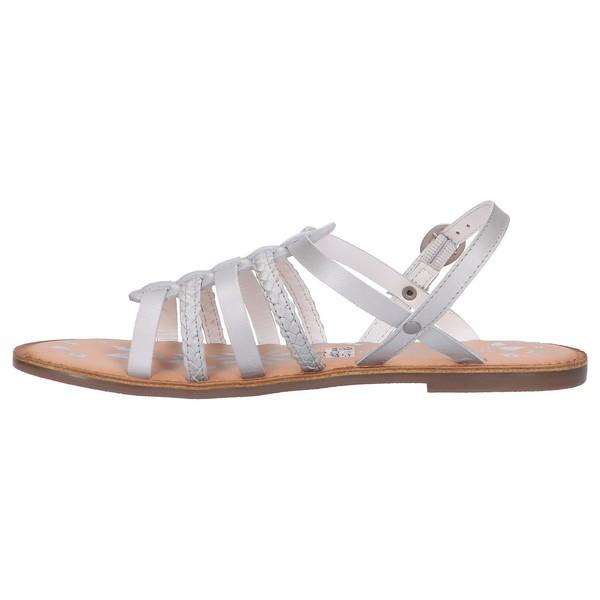 Sandalia piel mujer/niña - gris