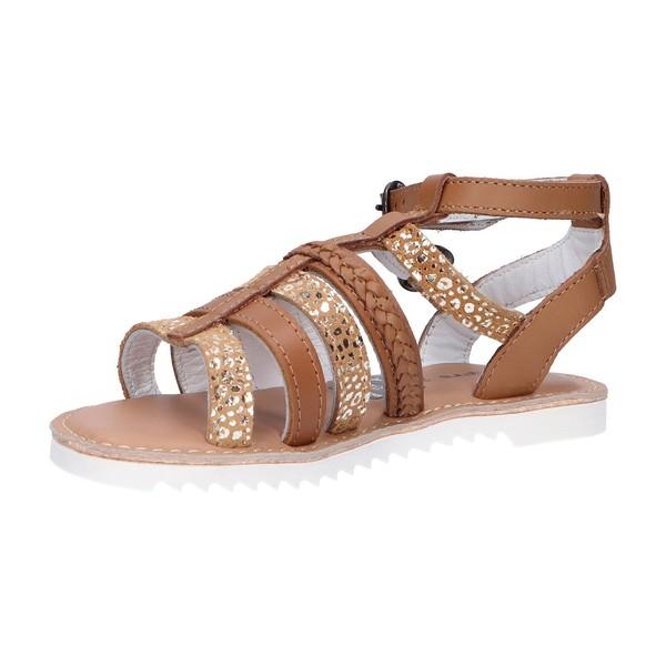 Sandalia piel mujer/niña - marrón
