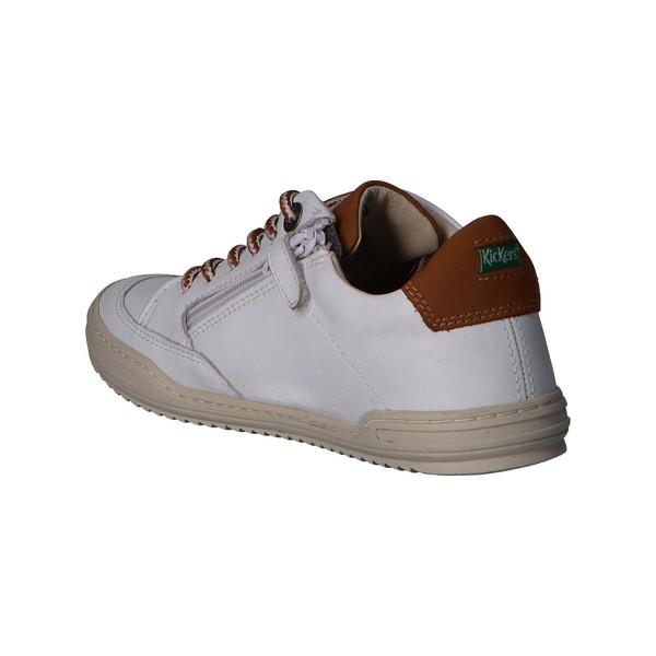 Sneaker piel infantil/junior - blanco
