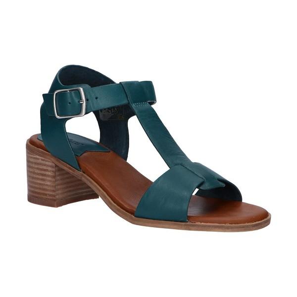 5cm Sandalia tacón piel mujer - azul