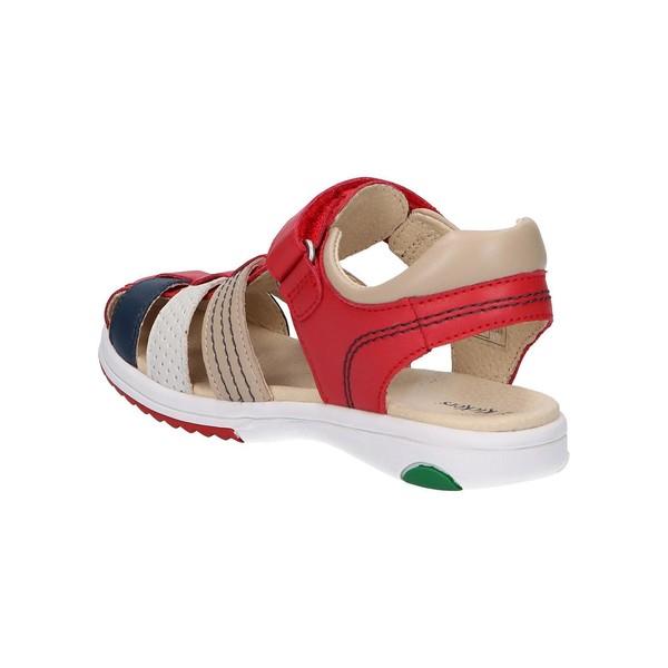Sandalia piel niño - rojo