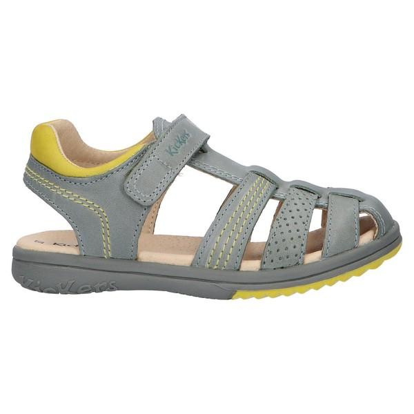 Sandalia piel mujer/infantil - verde