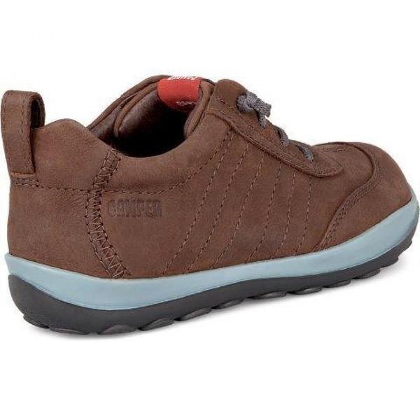 Sneaker piel infantil - marrón