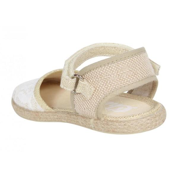 Sandalia plana infantil - dorado