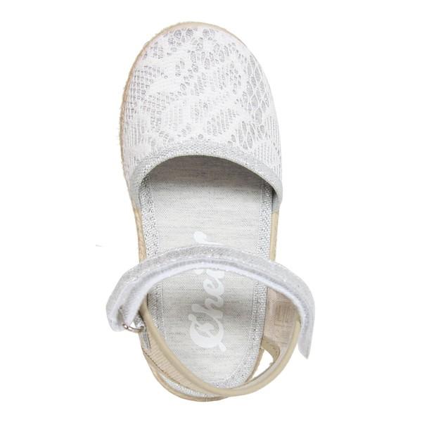 Sandalia plana infantil - plateado