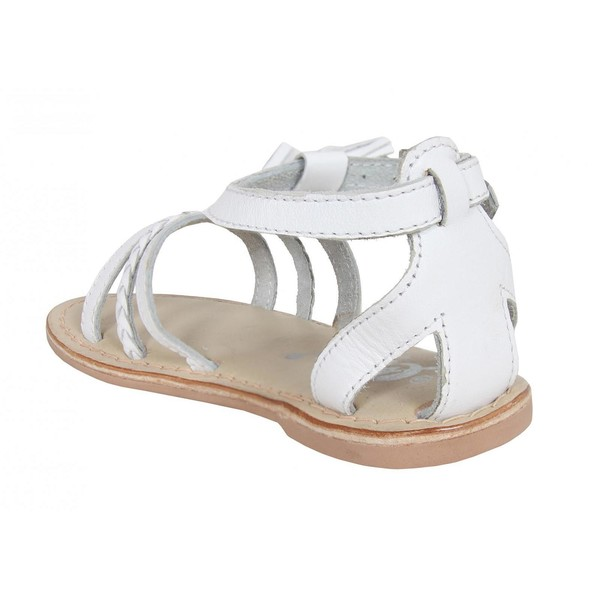 Sandalia plana infantil - blanco