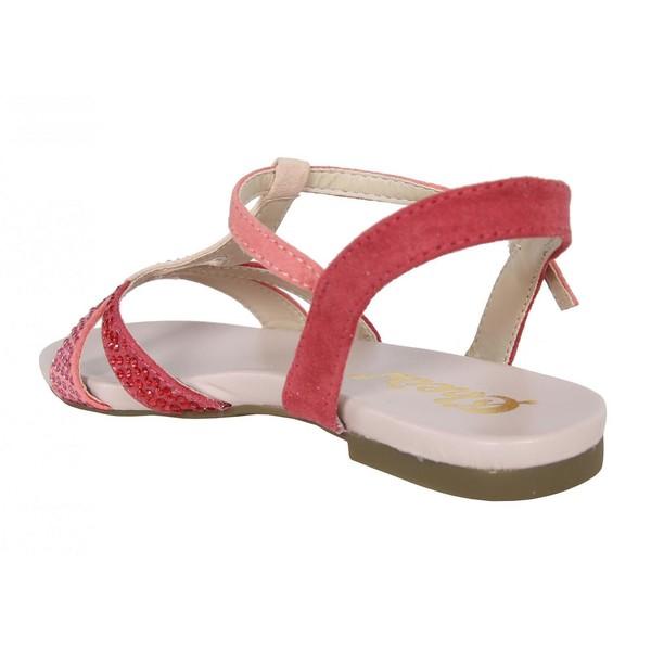 Sandalia plana infantil/juvenil - rosa