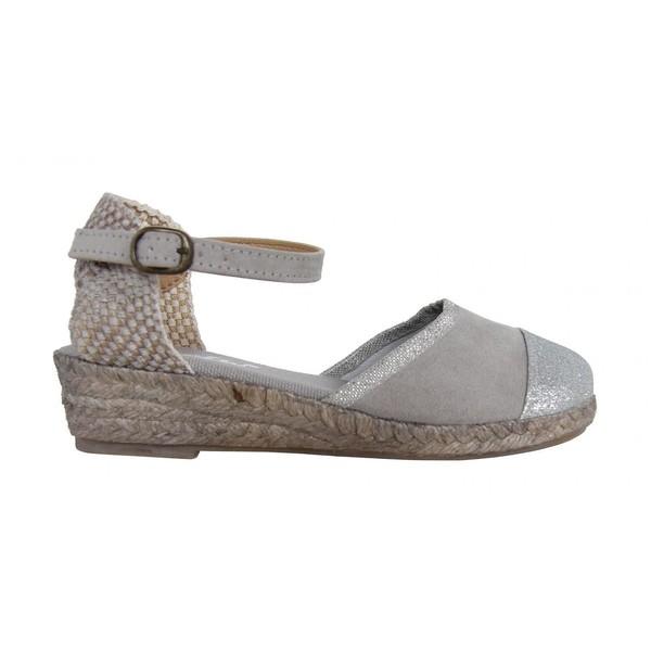 Sandalia cuña junior/mujer - gris