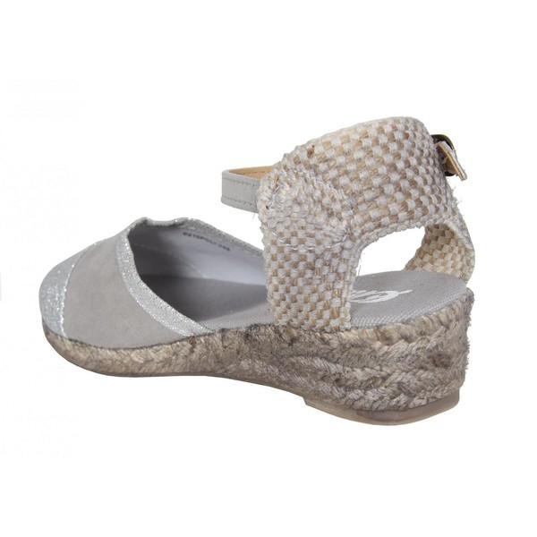 Sandalias cuña mujer/junior - gris
