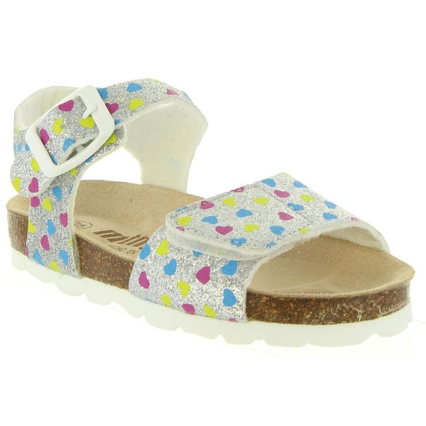 Sandalia piel infantil - plata