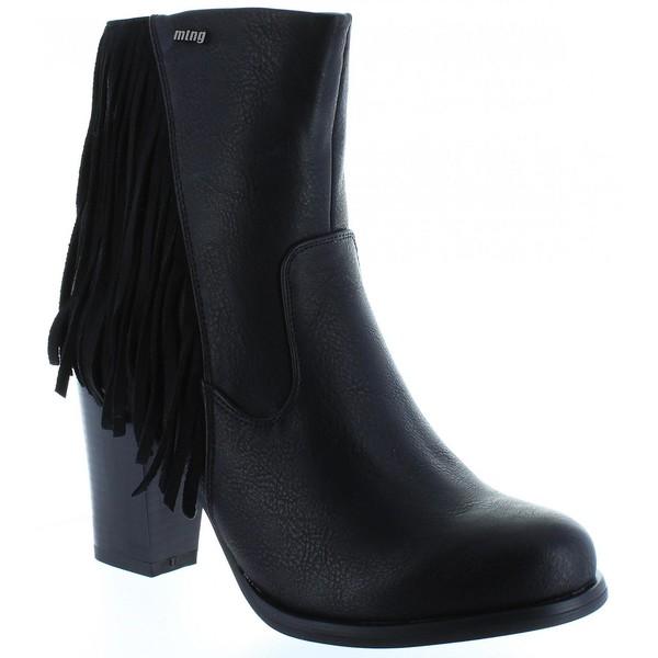 8cm Bota tacón mujer - negro