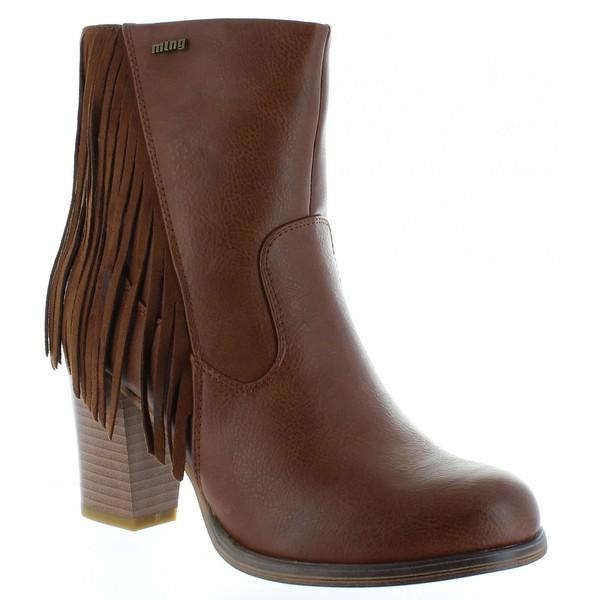 8cm Bota tacón mujer - marrón