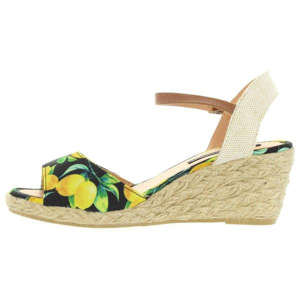 6cm Sandalia cuña mujer - multicolor