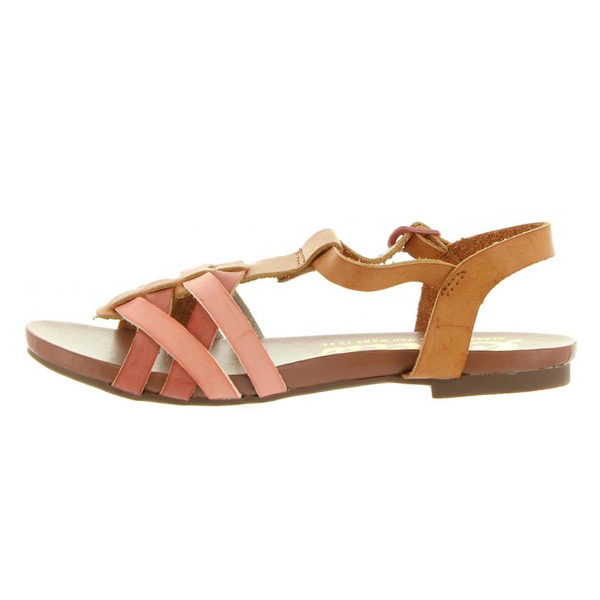 Sandalia infantil niña - teja/camel