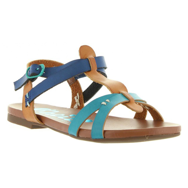 Sandalia infantil niña - azul/marrón