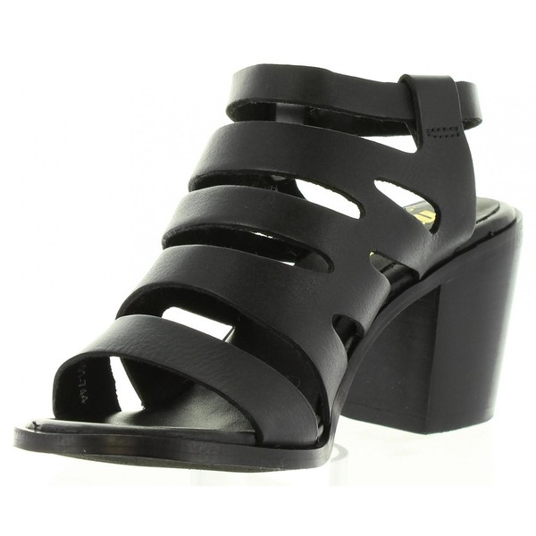 7cm Sandalia tacón mujer - negro