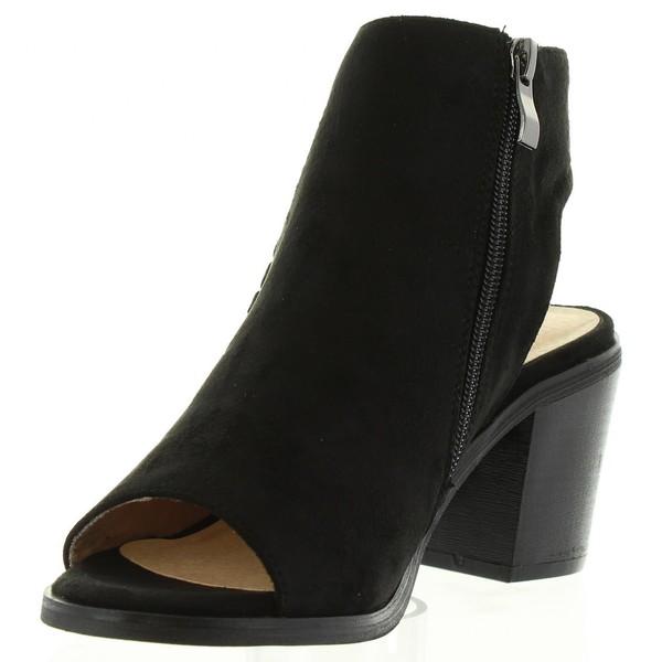 8cm Sandalia tacón mujer - negro