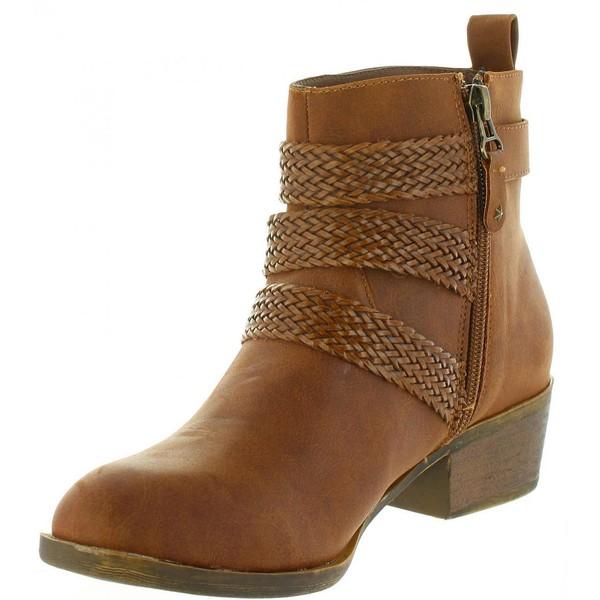 4cm Bota tacón mujer - marrón