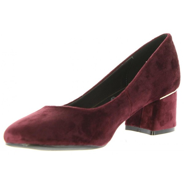 5cm Zapato tacón mujer - rojo