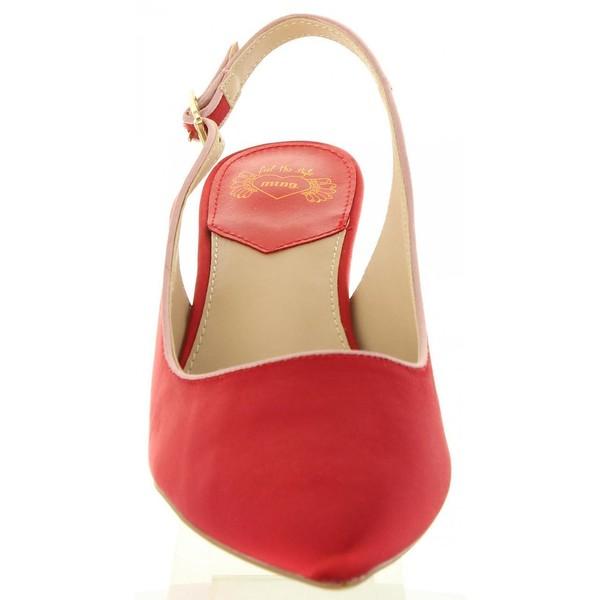 6cm Zapato tacón mujer - rojo