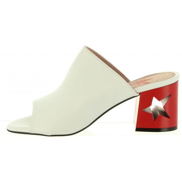 7cm Zapato tacón piel mujer - blanco