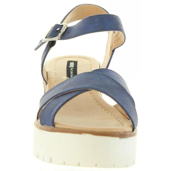 Sandalia tacón mujer - marino