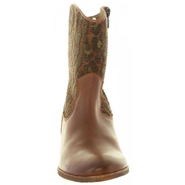 Botín tacón mujer - marrón