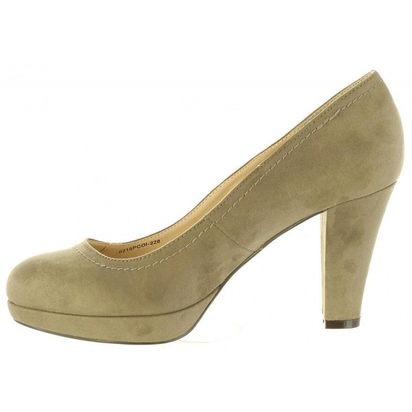 8cm Zapato tacón mujer - taupe