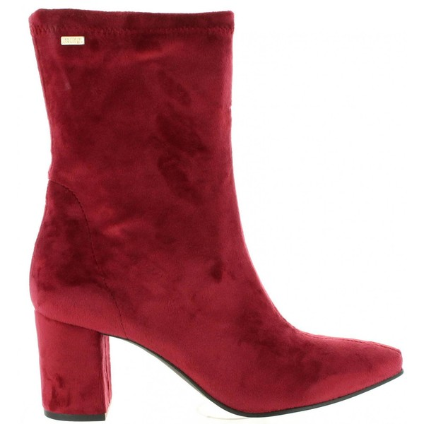 7cm Bota tacón mujer - rojo