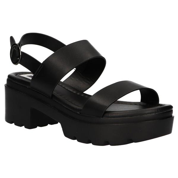6cm Sandalia tacón mujer - negro