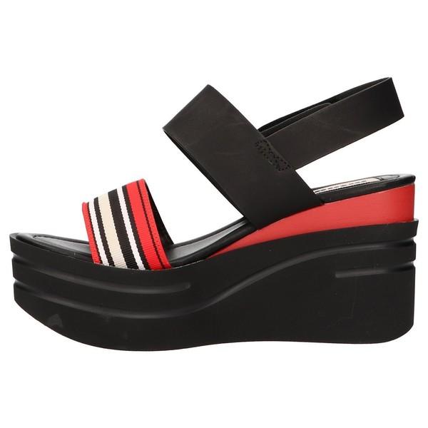 Sandalia plataforma mujer - rojo