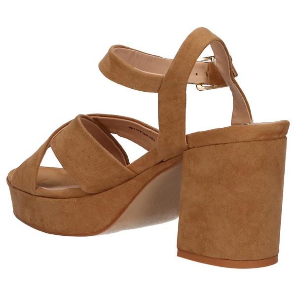 8cm Sandalia tacón mujer - marrón