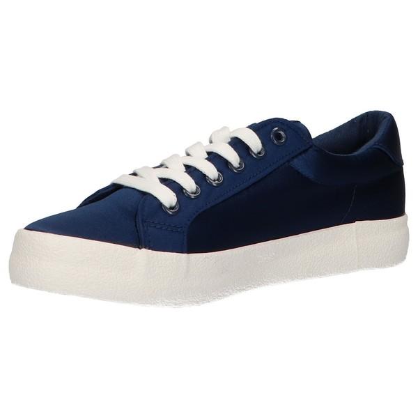 Sneaker plataforma mujer - azul