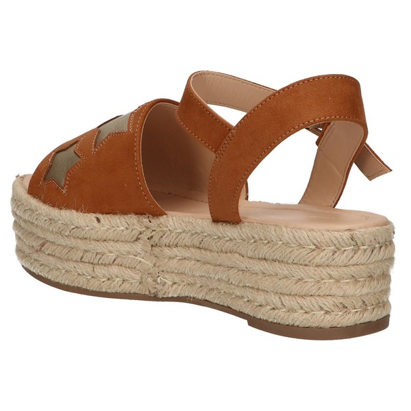 5cm Sandalia plataforma mujer - marrón