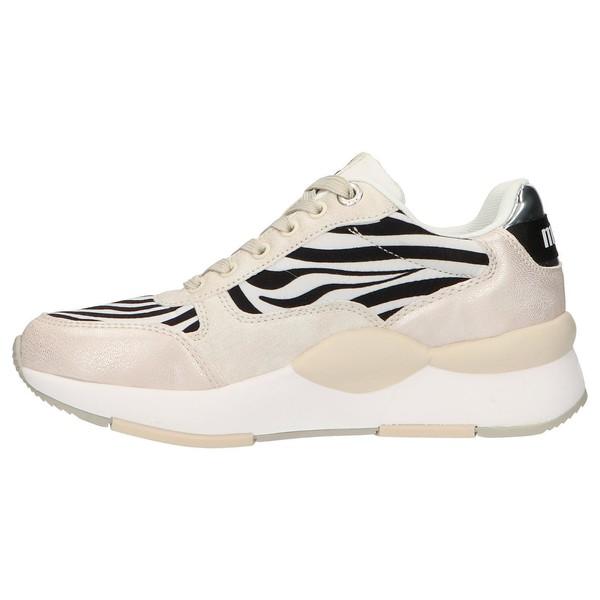 4cm Sneaker plataforma mujer - blanco