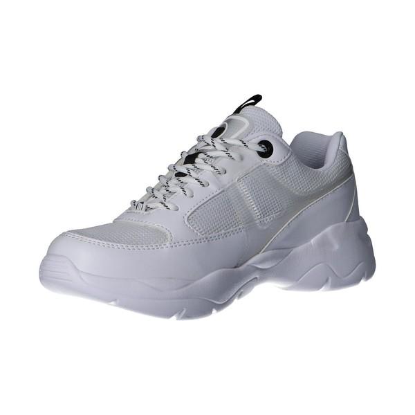 Sneaker plataforma mujer - blanco