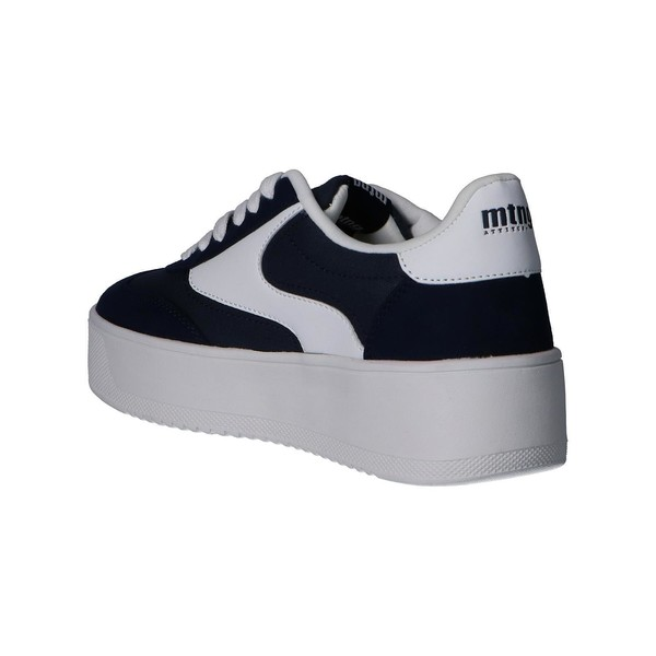 4cm Sneaker plataforma mujer - azul
