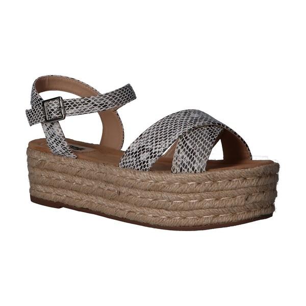 Sandalia plataforma mujer - blanco