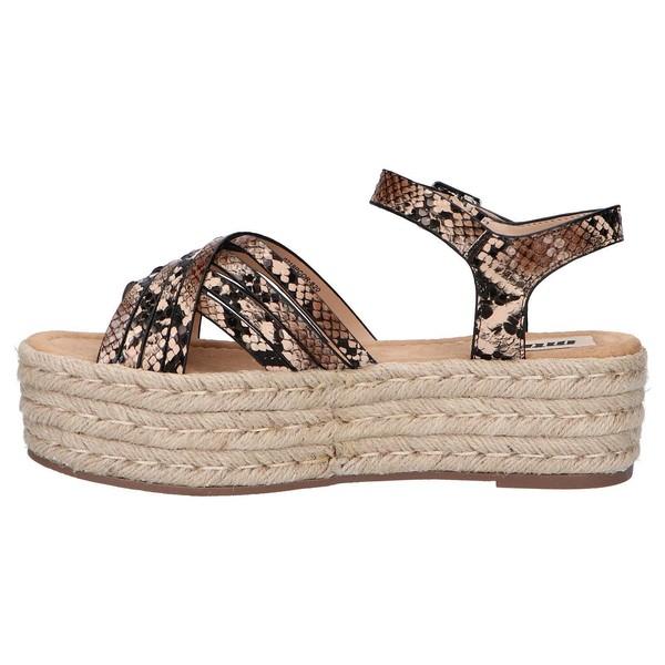 Sandalia plataforma mujer - marrón
