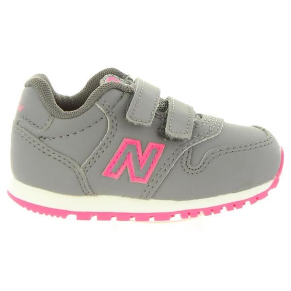 Sneaker infantil - gris/fucsia