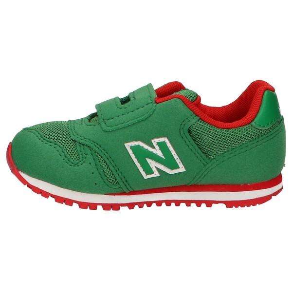 Sneaker piel/textil infantil - verde
