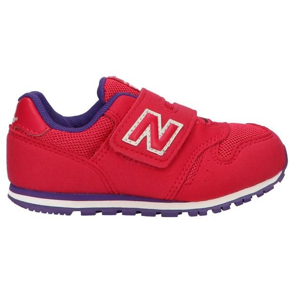 Sneaker piel/textil infantil - rojo