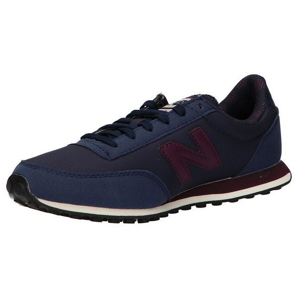 Sneaker piel/textil mujer - azul