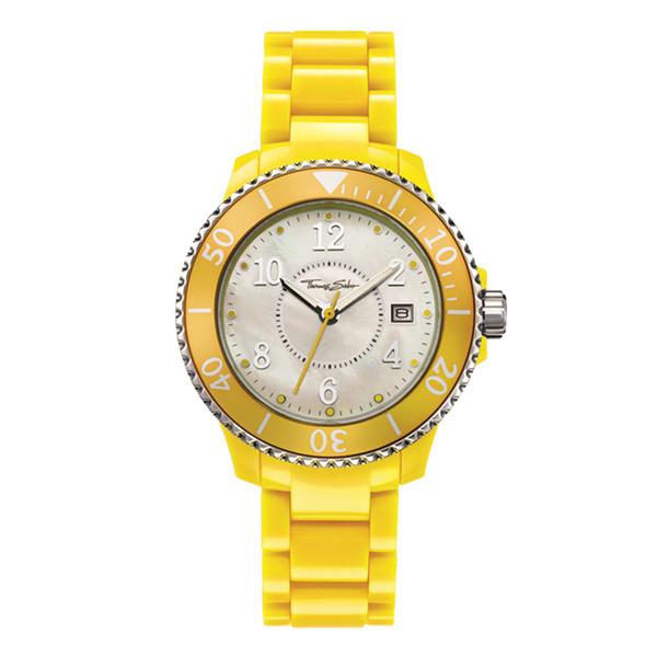 Reloj analógico mujer - amarillo